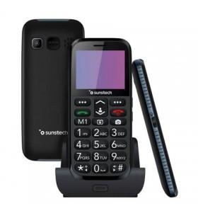Teléfono Móvil Sunstech CEL3BK para Personas Mayores/ Negro CEL3BK
