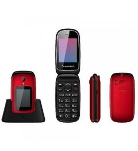 Teléfono Móvil Sunstech CELT22RD/ Rojo CELT22RD