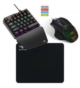 Pack Gaming Spirit of Gamer XPERT-G700/ Teclado Mecánico/ Ratón Óptico + Alfombrilla SOG-XG700