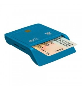 Lector de DNI y Tarjetas Woxter Combo PE26-146/ Azul/ USB 2.0 PE26-146