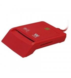 Lector de DNI y Tarjetas Woxter Combo PE26-148/ Rojo/ USB 2.0 PE26-148
