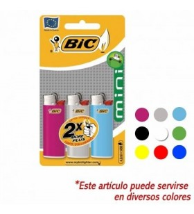 Blister de mecheros bic classic mini/ 3 uds BIC