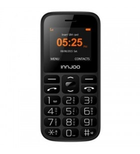 Teléfono Móvil Innjoo Senior Phone para Personas Mayores/ Negro IJ-SENIOR PHONE-BLK