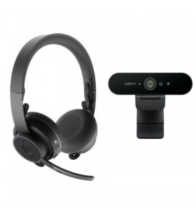 Pack 2 en 1 Logitech Video Collaboration Webcam + Auriculares con Micrófono 991-000309
