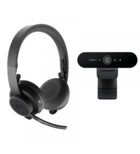 Pack 2 en 1 Logitech Video Collaboration Webcam + Auriculares con Micrófono 991-000309