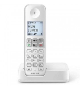 Teléfono Inalámbrico Philips D2501W D2501W/34