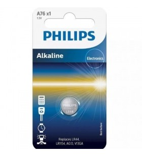 Pila de Botón Philips LR44 A76/01B