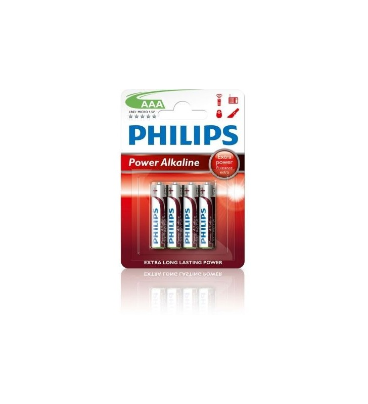Pack de 4 Pilas AAA Philips LR03P4B LR03P4B/10