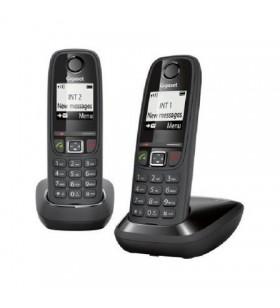 Teléfono inalámbrico gigaset as405/ pack duo/ negro GIGASET