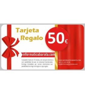 Tarjeta Regalo de 50€ para informaticabarata.com Entrega de código de forma inmediata por email al realizar la compra. Si ind...