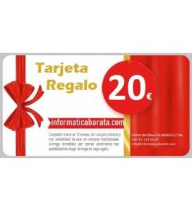 Tarjeta Regalo de 20€ para informaticabarata.com Entrega de código de forma inmediata por email al realizar la compra. Si ind...