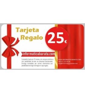 Tarjeta Regalo de 25€ para informaticabarata.com Entrega de código de forma inmediata por email al realizar la compra. Si ind...