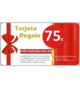 Tarjeta Regalo de 75€ para informaticabarata.com Entrega de código de forma inmediata por email al realizar la compra. Si ind...