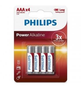 Pack de 4 Pilas AAA Philips LR03P4B LR03P4B/05