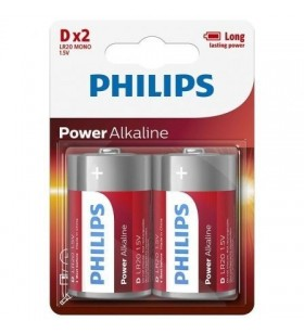 Pack de 2 Pilas D Philips LR20P2B LR20P2B/05