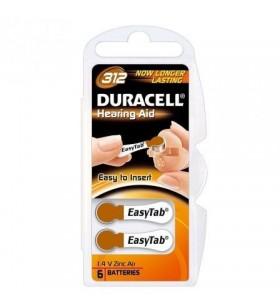 Pack 6 Pilas para Audífono Duracell DA312 DA312